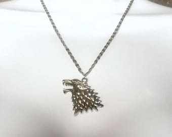 House Stark Necklace - Game of Thrones Jewelry - Direwolf Pendant- Arya, Rob, Sansa - Stark Jewelry - Cosplay Jewelry
