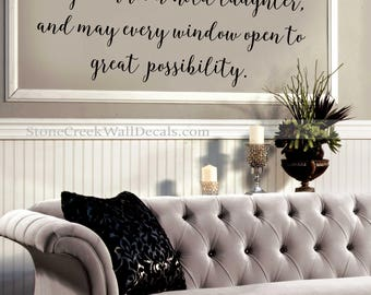 May Our Home Know Joy Wall Decal Family Wall Decal Handwritten Decal  Strength Bible Verses Home