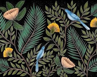 Floral Pattern A4 Print