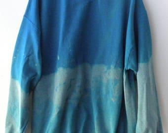 Acid wash Sweatshirt, Crewneck Sweatshirt, Dip Dye sweatshirt, Boho Sweatshirt, Grunge Sweatshirt, tie dye, Holiday Sale, Gift under 40