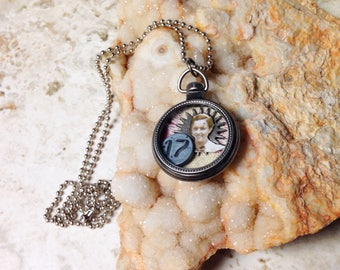 Other People's Family Pocket Watch Necklace