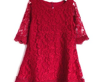 Flower Girl Lace Dress, Birthday Dress made for girls, toddlers, infants, Size: 100 110 120 130 140