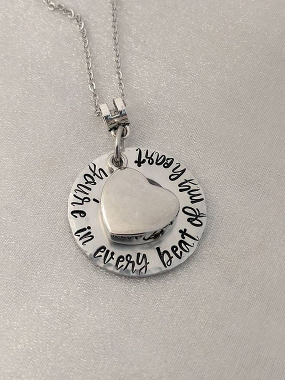 Urn for Ashes Necklace - Memorial Urn Keepsake - Urn Necklace - Heart Urn - Ash Holder Jewelry - Sympathy Gift - Beat of My Heart - Grief