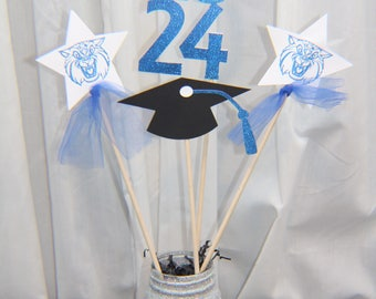 graduation centerpiece, graduation, graduation party, gradation party decor, centerpiece, congrats grad, graduation graduation party, decor