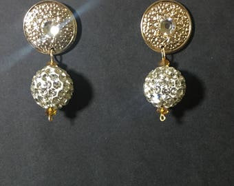 Crystal Omega Collection Earrings