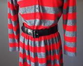 Vintage Long Sleeve Strip...