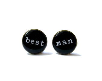 BEST MAN CUFFLINKS - Gift For Best Man - Wedding Party Gifts