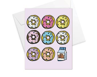 Donut Fold Over Note Cards