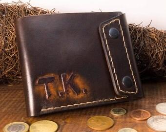 mens leather wallet, shopper card wallet, wallet card holder, dark brown leather wallet, cash wallet ,leather purse