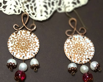 """Earrings """"Color of pomegranates"""""""