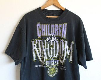 XLARGE Vintage 1990s Children of the Kingdom of Christ Graphic T-Shirt