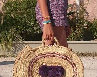 Basket, summer bag, basket, beach bag, beach bag, beach basket, straw bag, straw basket, wicker basket, straw basket