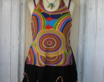 Funky Wool Tunic Dress Plus Size Boho Upcycled