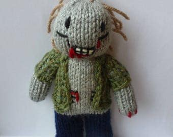 Zombie knitted doll