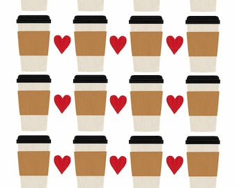 Coffee / 5 x 7, 8 x 10 Art Print