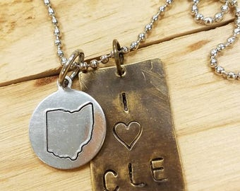 I heart CLE necklace