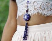 Orgone Necklace - 'Spirit Jewels' - Lapis Lazuli - Crystal Healing Boho Festival Gypsy Jewellery  - Medium