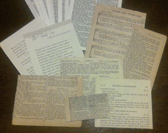25 Vintage Bible pages (1975) + Extras*ephemera*junk journal*faith journal*scrapbooking*book pages*paper craft*prayer journal*journaling--3