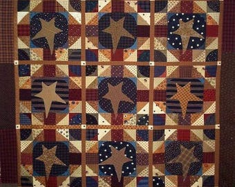 Pattern: Old Ben's Bonnet Quilt Pattern by Primitive Pieces by Lynda