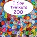 "SMALL TRINKETS (200) for I spy bags, I spy bottles, sensory bins, games, teaching, 1"" toys, tiny toys, small toys, No Duplicates!"