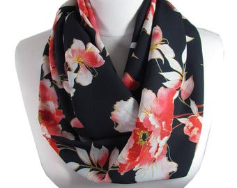 Floral Scarf Infinity Scarf Circle Scarf Loop Spring Fall Winter Scarf Women Fashion Accessories Gift For Women 84