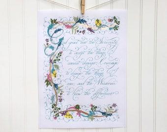 Serenity Prayer - God Grant Me The Serenity - Wall Art - Inspirational Quote Art - Giclee Print