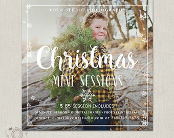 Christmas Mini Session Template - Holiday Photography Marketing Board - Instagram Facebook Promotion - Holiday Minis Flyer 117