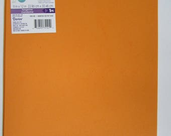 10 Sheets of Foam 9x12 - Tangerine- Ideal for foam crafts, fofuchas and more