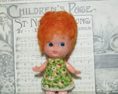 Vintage Little Red Head Doll- Big head vintage doll baby