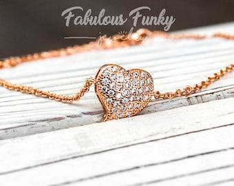 Rose Golden Bracelet Heart