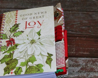 Good News of Great Joy Christmas Altered Journal