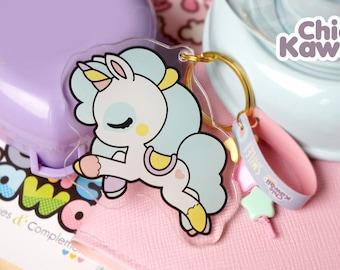 Chic Kawaii unicorn Keychain Acrylic. Lovely.