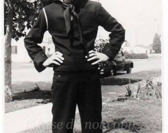 Vintage Photo  ~ Handsome Navy Sailor Boy