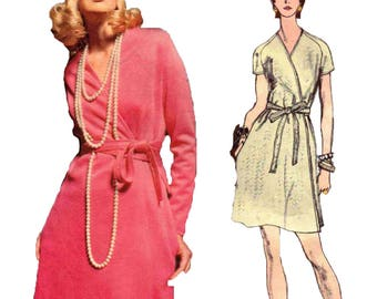 Sewing Pattern Vintage Mod 1970s Vogue Americana 2281 Chuck Howard Misses One Piece Mod Dress