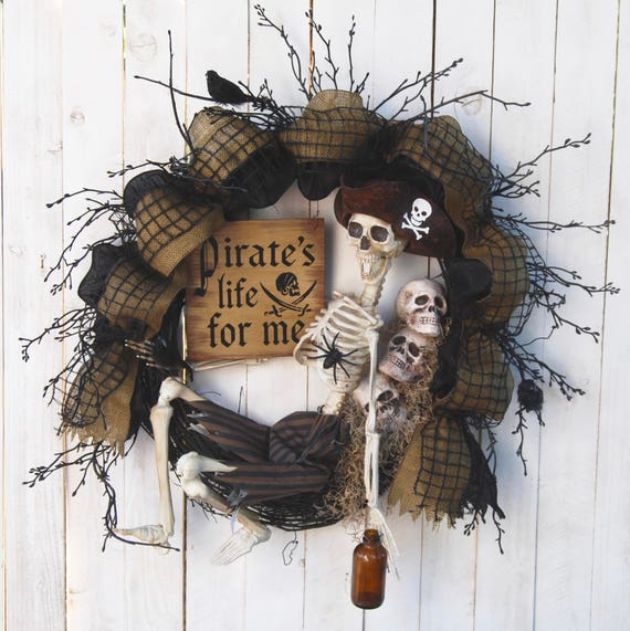 Pirate Skeleton Wreath