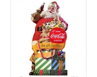 Coca-Cola Santa Gift for Thirst Vinyl Sticker #158785