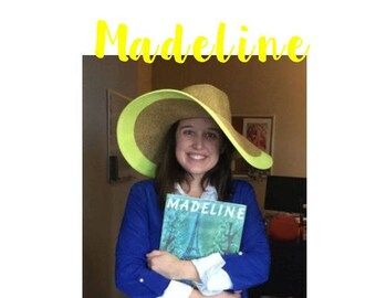 Halloween Hats - Adult Halloween Costume - Madeline Halloween Costume -  Womens Halloween Clothes -  Yellow Floppy Hat - Halloween Costumes