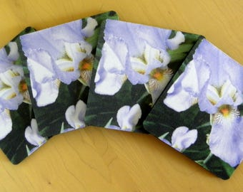 IRIS LOVER Coaster Set created by Pam Ponsart for Pam's Fab Photos; it's just 'the ticket' for a Special Person on your shopping list