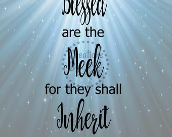 Blessed are the Meek Bible Verse