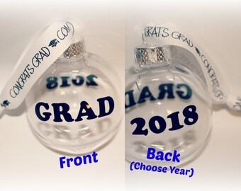 Graduation Gift, Graduation Ornament, Class 2017, College Graduation, High School Graduation, Personalized Graduation, Christmas Ornament