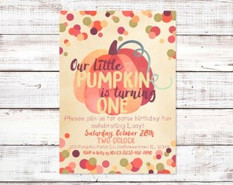 Our Little Pumpkin Is Turning One, Halloween Birthday, October Birthday Party, Pumpkin Birthday, Boy Birthday, Girl Birthday, Fall Birthday