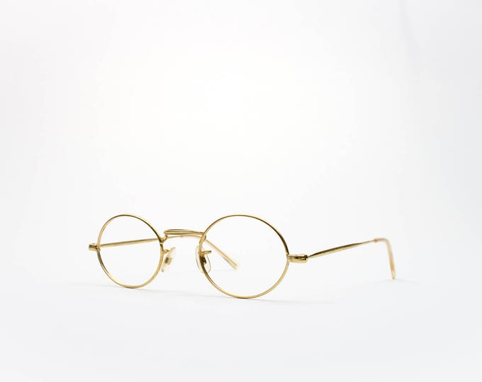 50s Vintage Round Glasses | Made in France | 1950s Gold Wire Rim Glasses