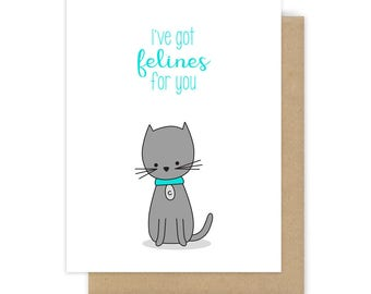 I Love You Card Love Pun Cards For Girlfriend Wife Boyfriend Husband Romantic Happy Anniversary Cute Cat Handmade Greeting Gifts Her Him