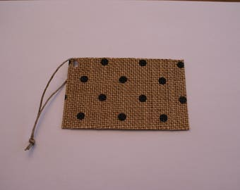 Gift Tag or Label, Burlap and Cardstock