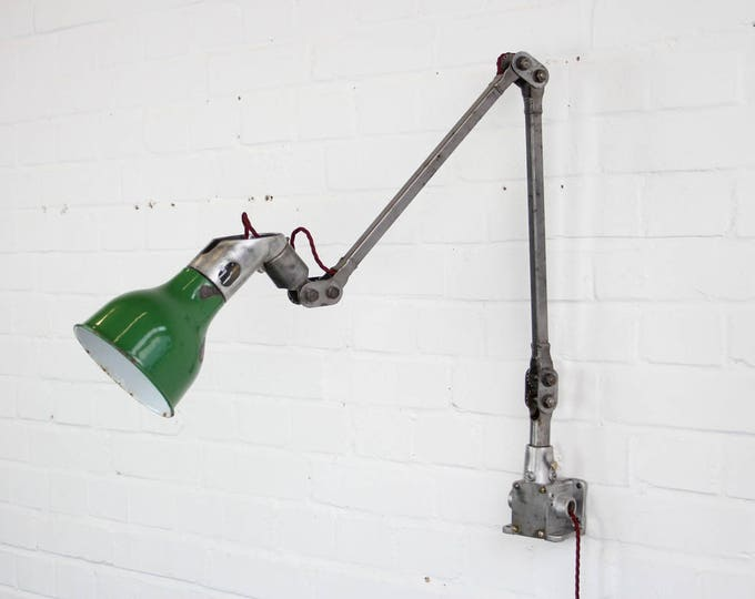 Wall Mounted Industrial Task Lamp By Mek Elek Circa 1930s