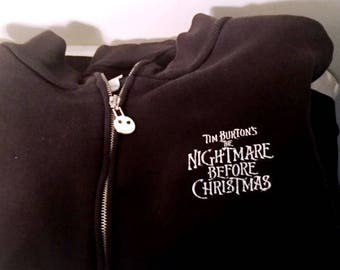 Vintage Nightmare before Christmas Women's (Size Small) Black Sweatshirt