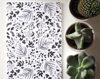 A5 Notebook | Black & White Floral