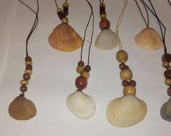 Natural wooden Seashell beach necklace-wedding,summer,OOAK,couture necklace,jewelry