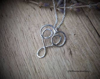 Silver necklace. Infinity necklace. Heart jewellery. Infinity heart necklace. Celtic jewellery. Celtic necklace. Valentines gift idea
