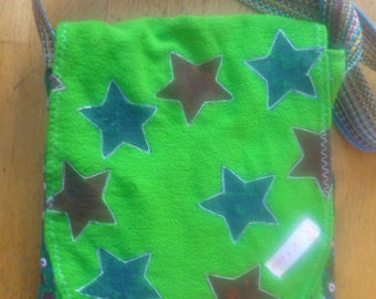 Green Pippa & Lies! bag plus portemoneetje with star